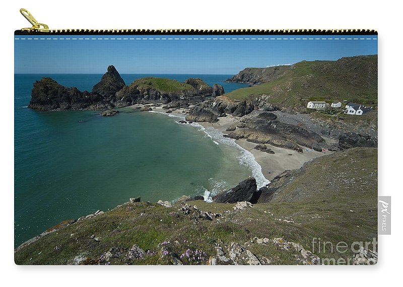 Outdoors Carry-all Pouch featuring the photograph Cliffs In Bretagne by Jaroslaw Blaminsky