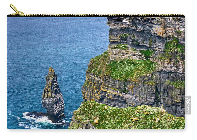 Cliffs Carry-all Pouch featuring the photograph Cliffs Of Moher 41 by Douglas Barnett