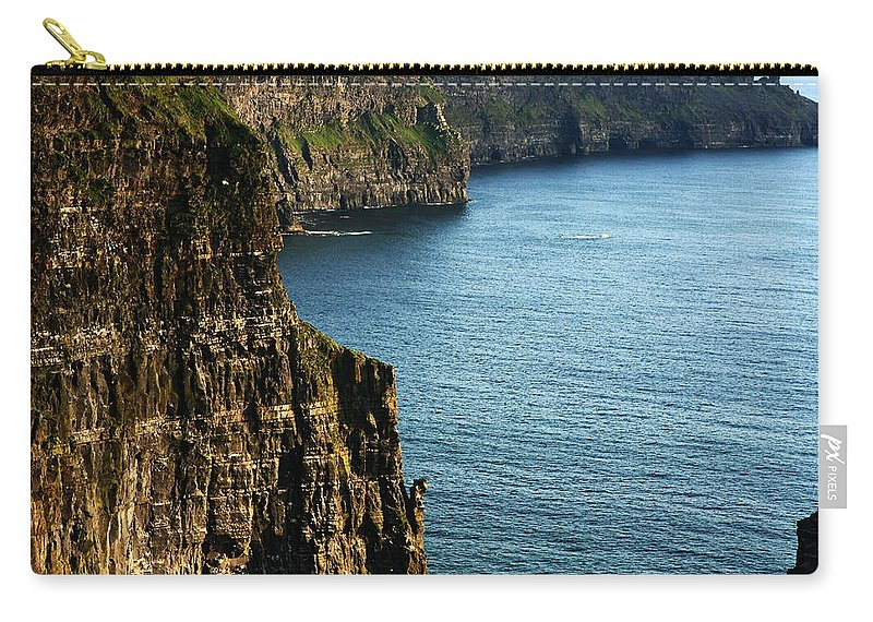 Ireland Carry-all Pouch featuring the photograph Cliffs Of Moher Clare Ireland by Aidan Moran
