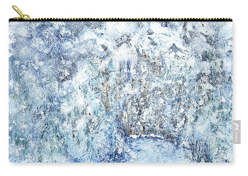 Contemporary Expressionistic Realism Carry-all Pouch featuring the painting Climbers Peak by Linda Wimberly