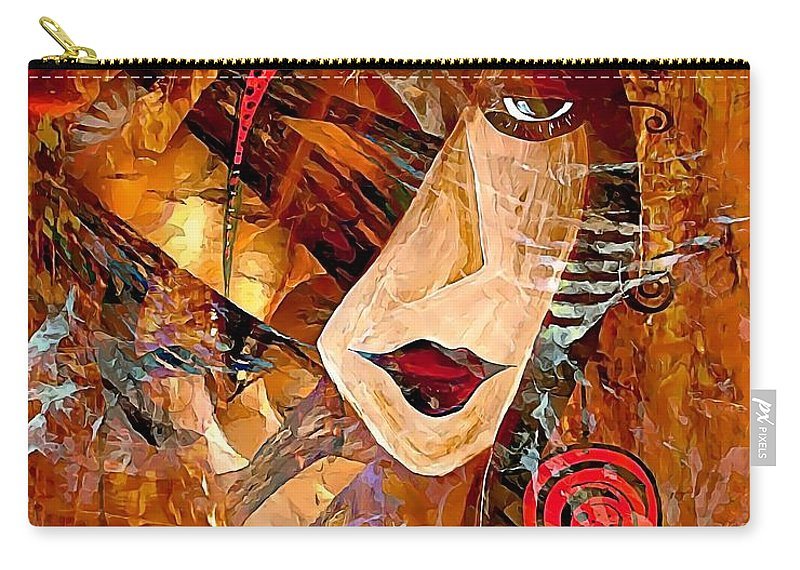 Graphics Carry-all Pouch featuring the digital art Clip 0360 Marucii by Marek Lutek