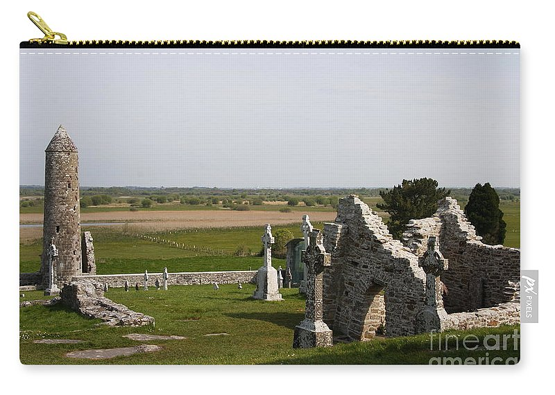 Clonmacnoise Carry-all Pouch featuring the photograph Clonmacnoise - Ireland by Christiane Schulze Art And Photography