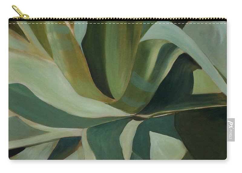 Cactus Carry-all Pouch featuring the painting Close Cactus by Debbie Hart