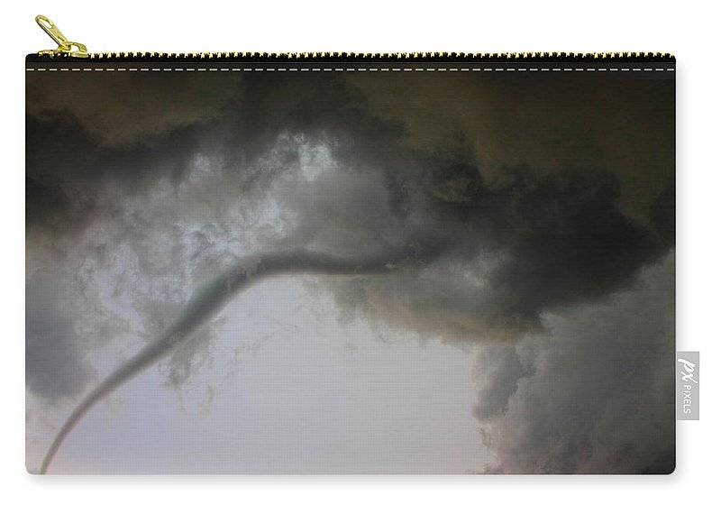 Thunderstorm Carry-all Pouch featuring the photograph Close Enough by Nzp Chasers