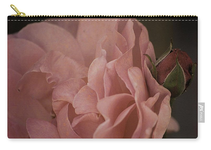 Rose Carry-all Pouch featuring the photograph Close To Me by Sharon Elliott