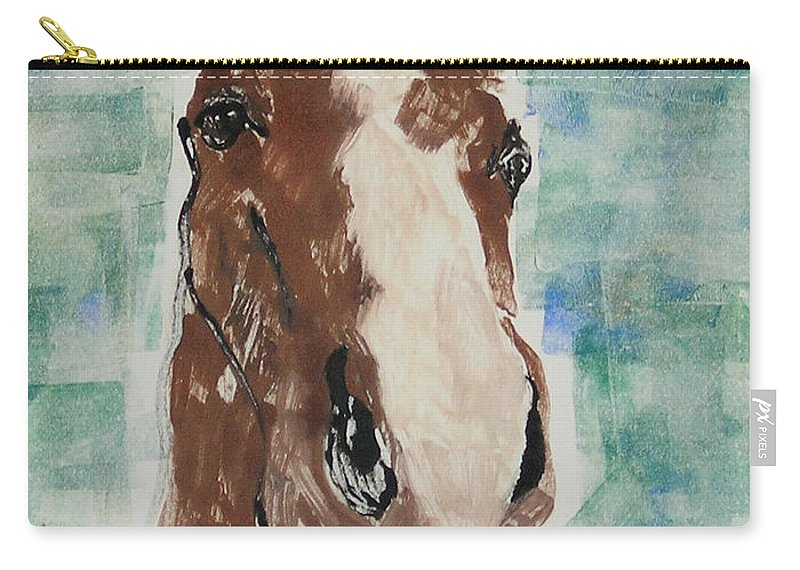 Horse Carry-all Pouch featuring the mixed media Close Up by Cori Solomon