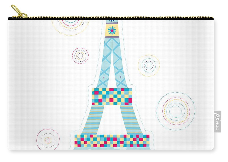 Event Carry-all Pouch featuring the digital art Close-up Of Tower by Eastnine Inc.