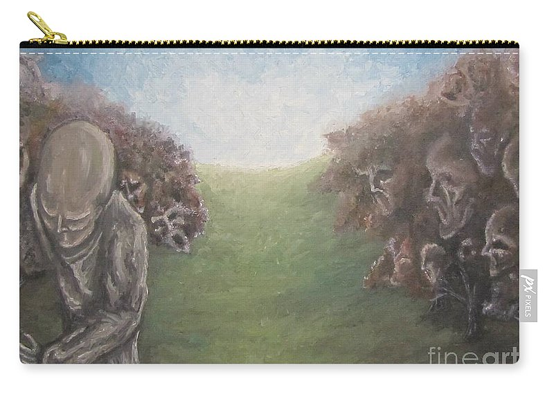 Tmad Carry-all Pouch featuring the painting Closure by Michael TMAD Finney