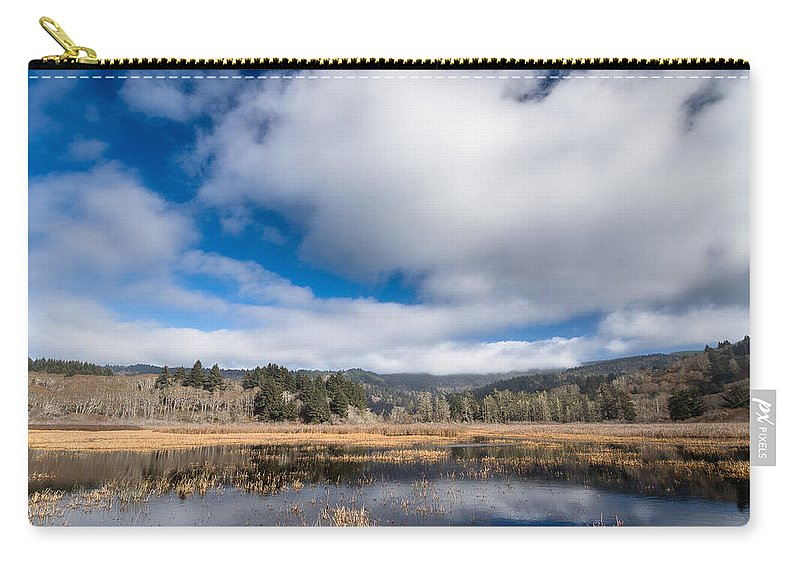 Reflections Carry-all Pouch featuring the photograph Cloud Above Dry Lagoon by Greg Nyquist