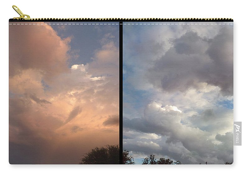 Clouds Carry-all Pouch featuring the photograph Cloud Diptych by James W Johnson