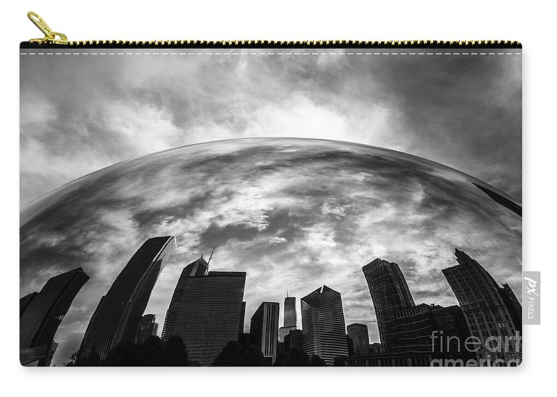 Bean Carry-all Pouch featuring the photograph Cloud Gate Chicago Bean by Paul Velgos