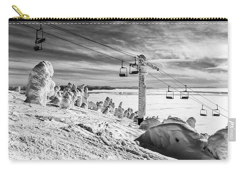 Snow Carry-all Pouch featuring the photograph Cloud Lift by Aaron Aldrich