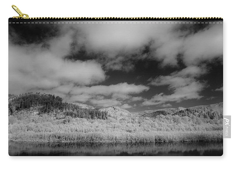 Infrared Carry-all Pouch featuring the photograph Clouds Above Klamath by Greg Nyquist