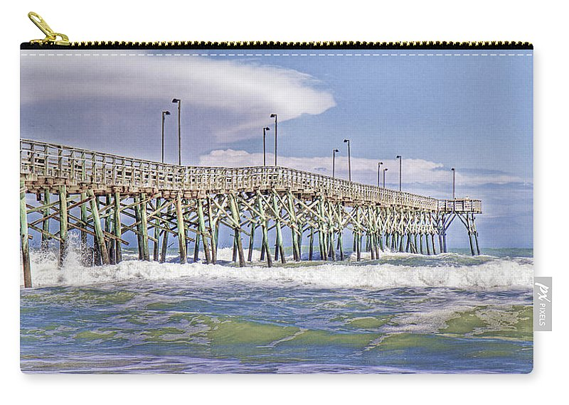 Topsail Carry-all Pouch featuring the photograph Clouds And Waves by Betsy Knapp