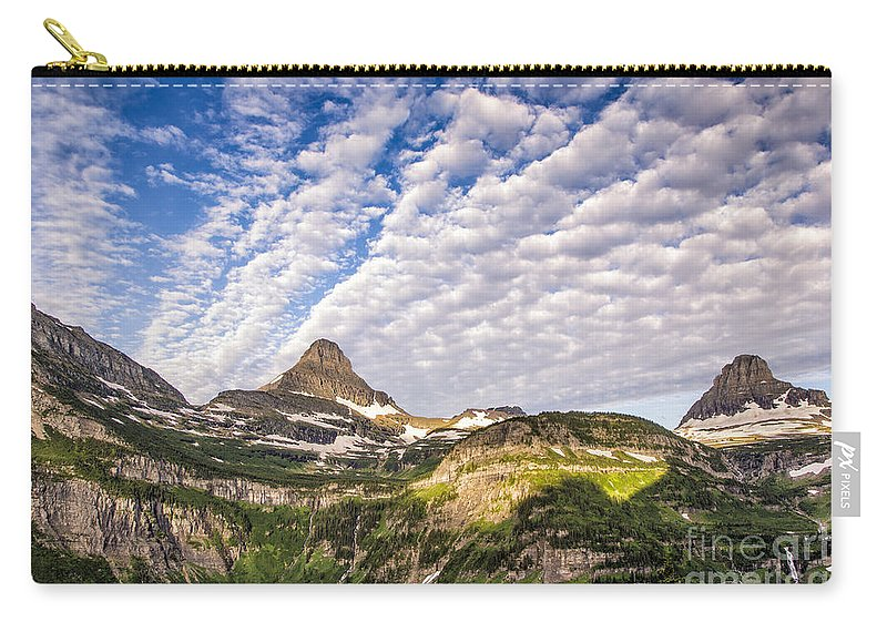 Glacier Carry-all Pouch featuring the photograph Clouds In Glacier by Timothy Hacker