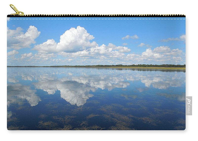 Landscape Carry-all Pouch featuring the photograph Clouds In The Lake by Steve Stones