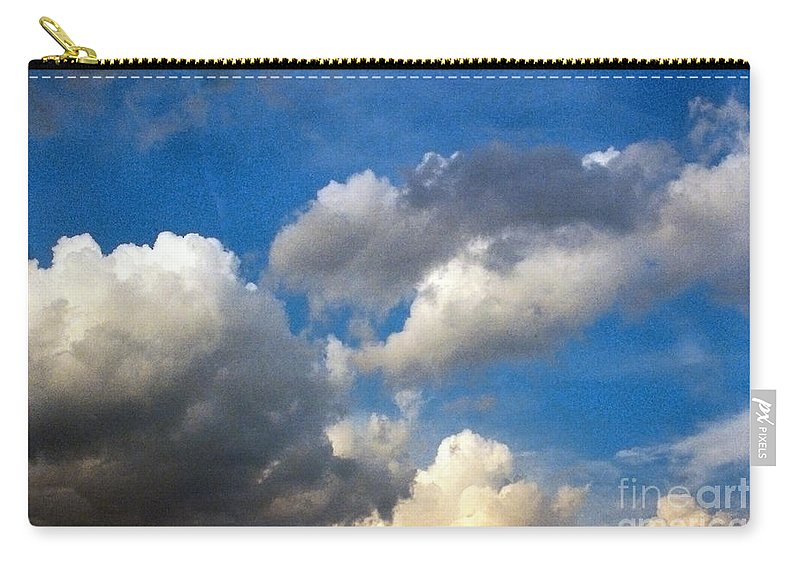 Cloud Carry-all Pouch featuring the photograph Clouds Of Today by Anita Lewis
