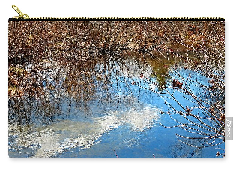 Mirey Brook Carry-all Pouch featuring the photograph Clouds On Water by MTBobbins Photography