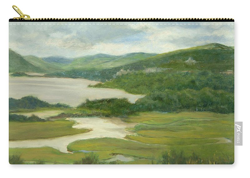 Oil Landscape Carry-all Pouch featuring the painting Clouds Over Constitution Marsh by Phyllis Tarlow