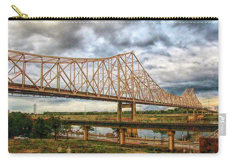 King Bridge Carry-all Pouch featuring the photograph Clouds Over King Bridge by C H Apperson