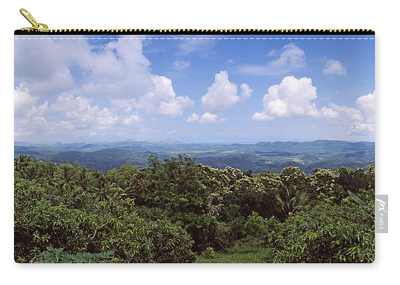 Photography Carry-all Pouch featuring the photograph Clouds Over Mountains, Flores Island by Panoramic Images