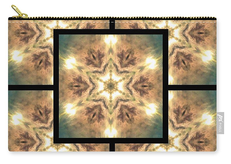 Sacredlife Mandalas Carry-all Pouch featuring the digital art Cloudscape Fire Page by Derek Gedney