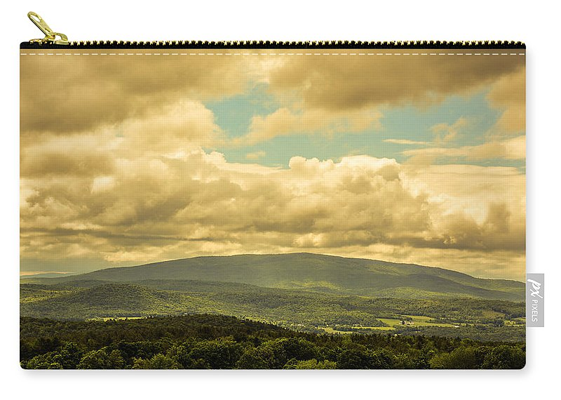 Clouds Carry-all Pouch featuring the photograph Cloudy Day In New Hampshire by Sherman Perry