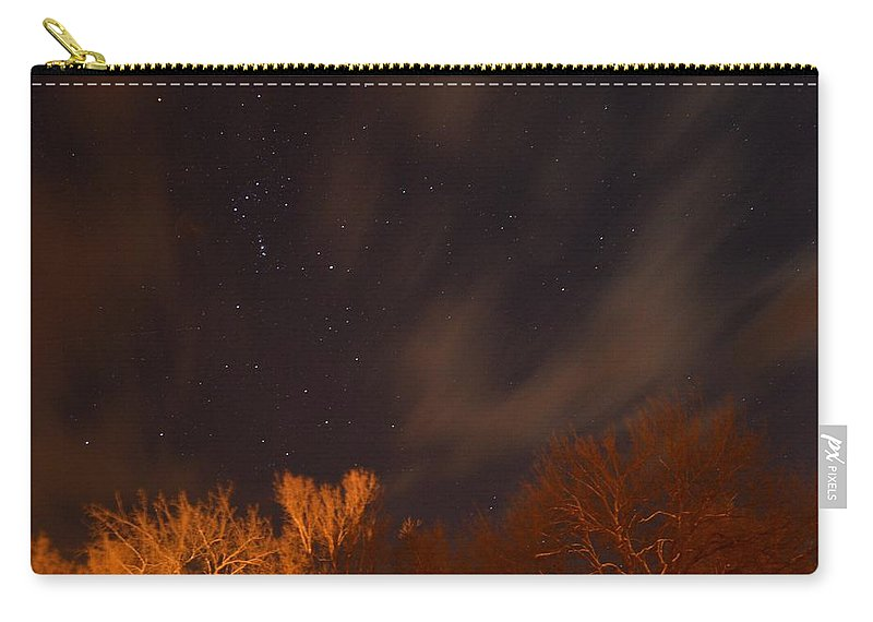 Stars Carry-all Pouch featuring the photograph Cloudy Nights by Bonfire Photography
