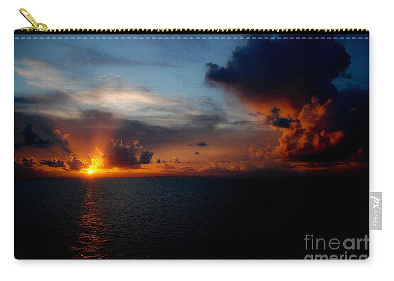 Sunset Carry-all Pouch featuring the photograph Cloudy Sunset by Jt PhotoDesign