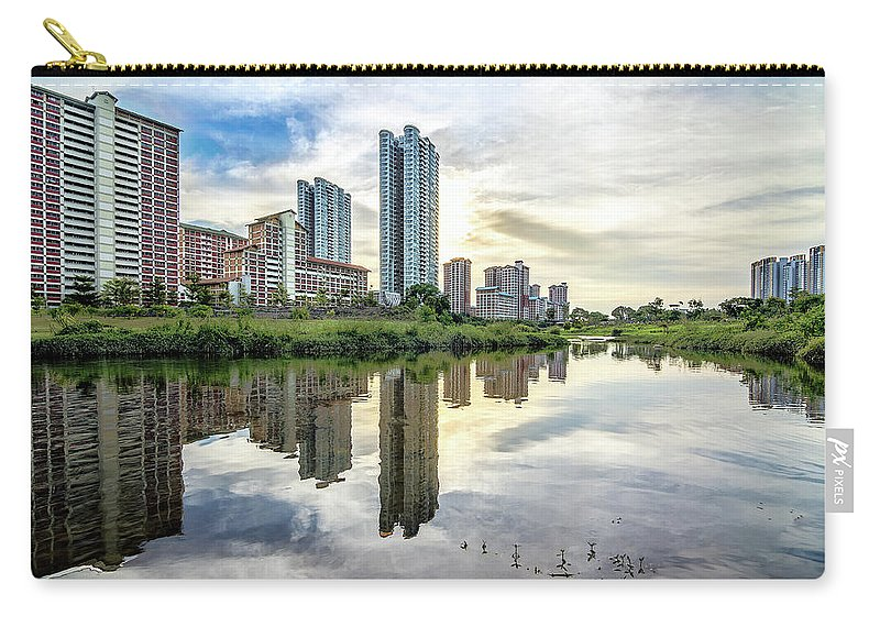 Standing Water Carry-all Pouch featuring the photograph Clover Reflections by Tia Photography