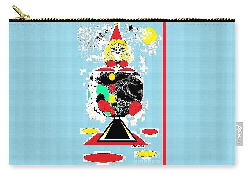 Goofy Carry-all Pouch featuring the digital art Clowning Around by Ann Calvo