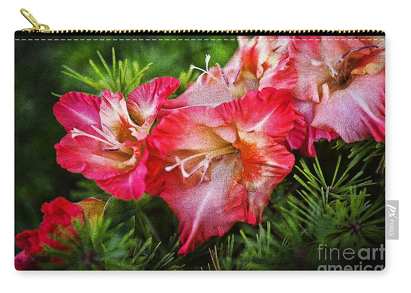 Flowers Carry-all Pouch featuring the photograph Cluster Of Beauty by Cindy Tiefenbrunn