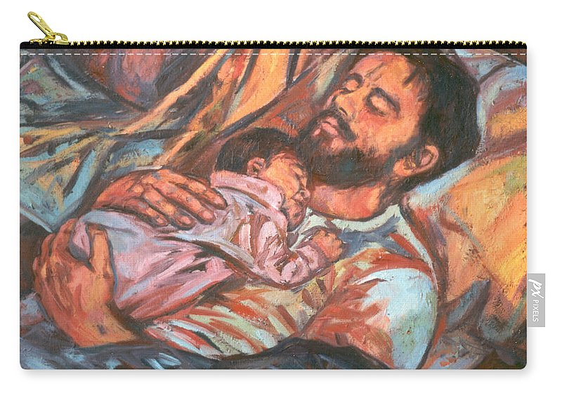 Figure Carry-all Pouch featuring the painting Clyde And Alan by Kendall Kessler