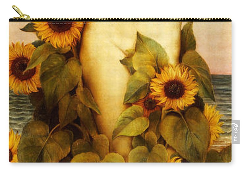 Sunflower Carry-all Pouch featuring the painting Clytie by Evelyn De Morgan