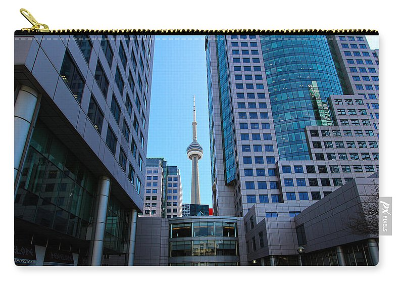Toronto Carry-all Pouch featuring the photograph Cn Tower by Paul Fell