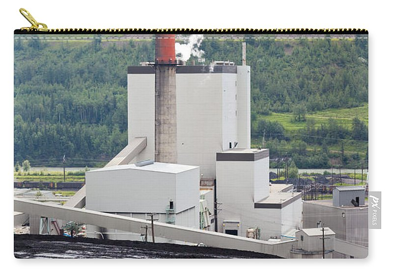 Big Carry-all Pouch featuring the photograph Coal Mine Electrical Energy Power Plant In Nature by Stephan Pietzko