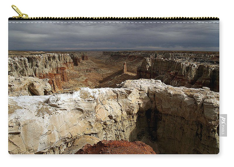 Landscapes Carry-all Pouch featuring the photograph Coal Mine Mesa 08 by Jeff Brunton