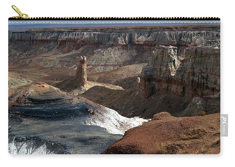 Landscapes Carry-all Pouch featuring the photograph Coal Mine Mesa 09 by Jeff Brunton