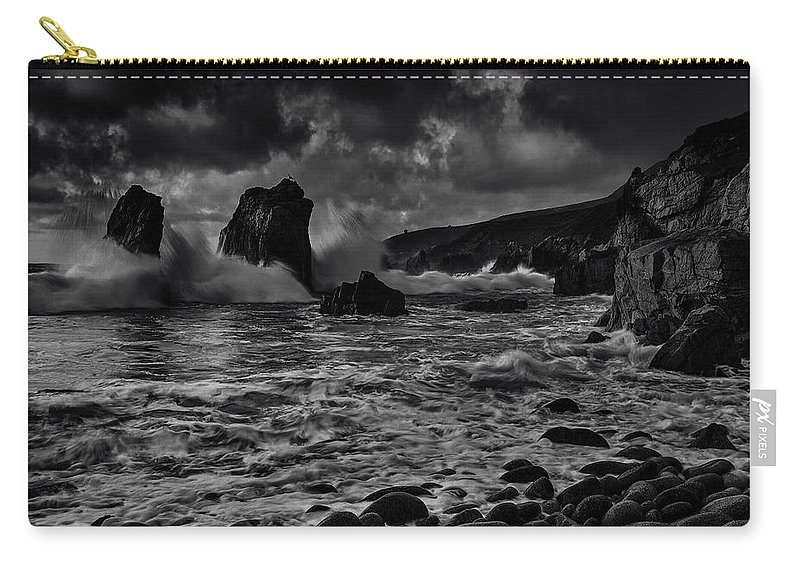 Bay Carry-all Pouch featuring the photograph Coast 21 by Ingrid Smith-Johnsen