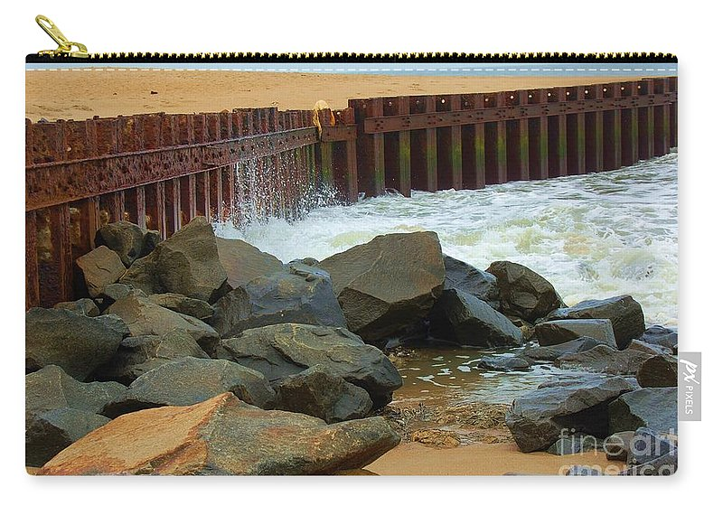 Water Carry-all Pouch featuring the photograph Coast of Carolina by Debbi Granruth