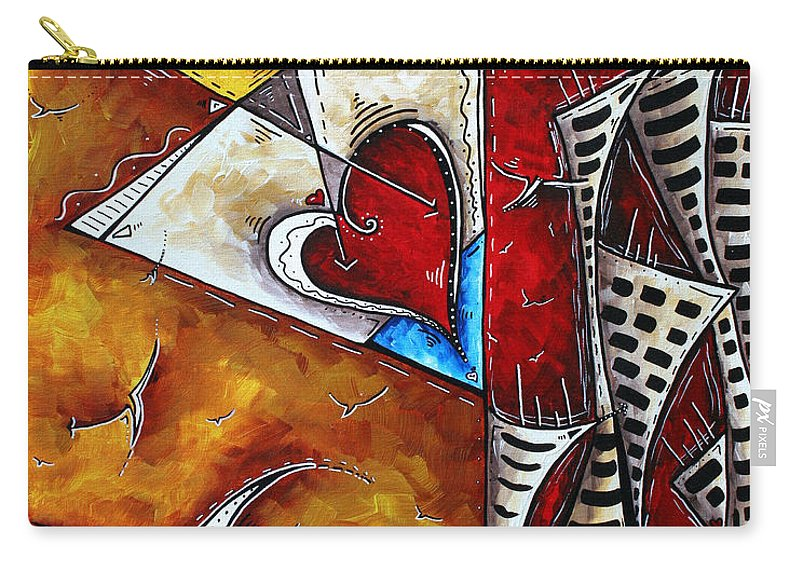 Coastal Carry-all Pouch featuring the painting Coastal Martini Cityscape Contemporary Art Original Painting Heart Of A Martini By Madart by Megan Duncanson