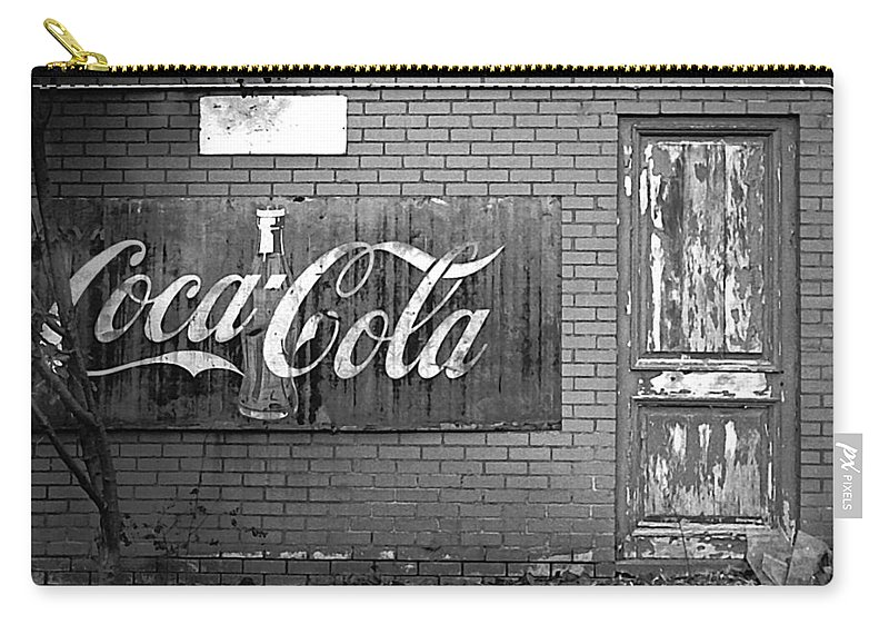 Coca-cola Carry-all Pouch featuring the photograph Coca-cola Sign by Jim Smith