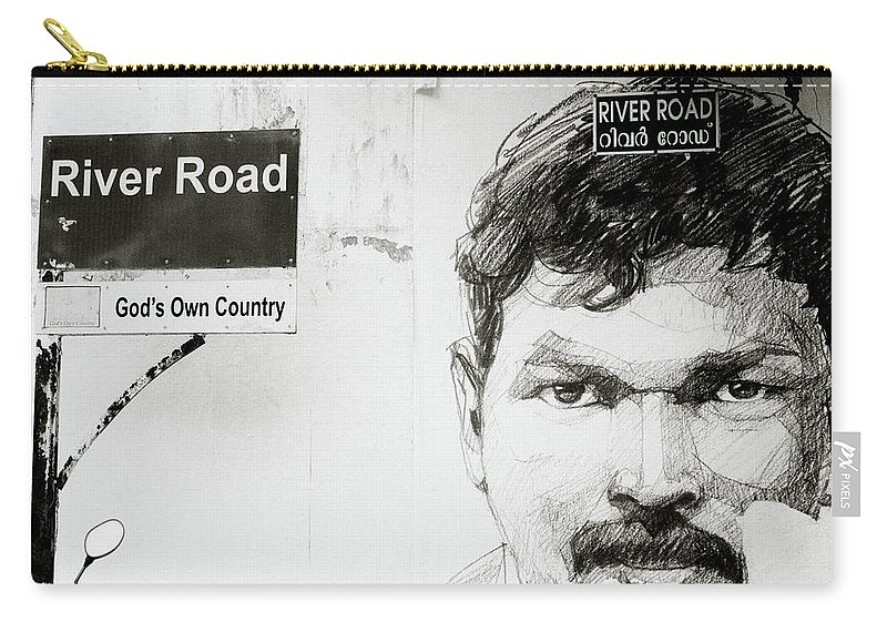 Graffiti Carry-all Pouch featuring the photograph Street Art In Cochin by Shaun Higson