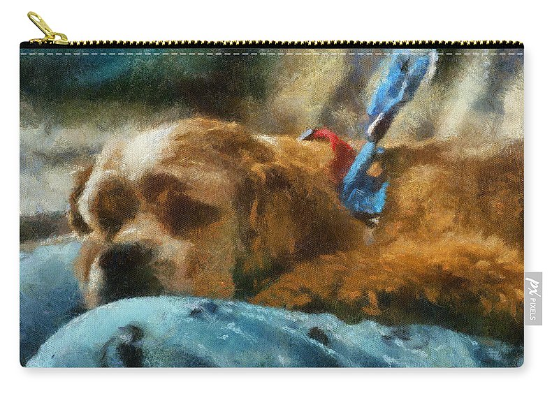 Spaniel Carry-all Pouch featuring the photograph Cocker Spaniel Photo Art 07 by Thomas Woolworth