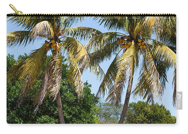 Sky Carry-all Pouch featuring the photograph Coconut Palm Trees In Key West by John M Bailey