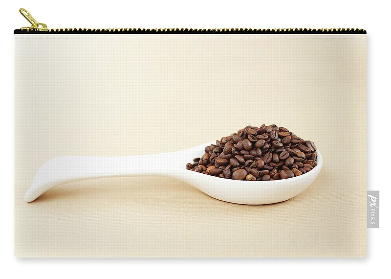 Spoon Carry-all Pouch featuring the photograph Coffee Beans by Bbostjan