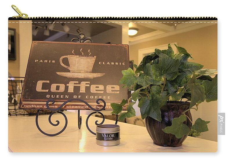 5617 Carry-all Pouch featuring the photograph Coffee by Gordon Elwell