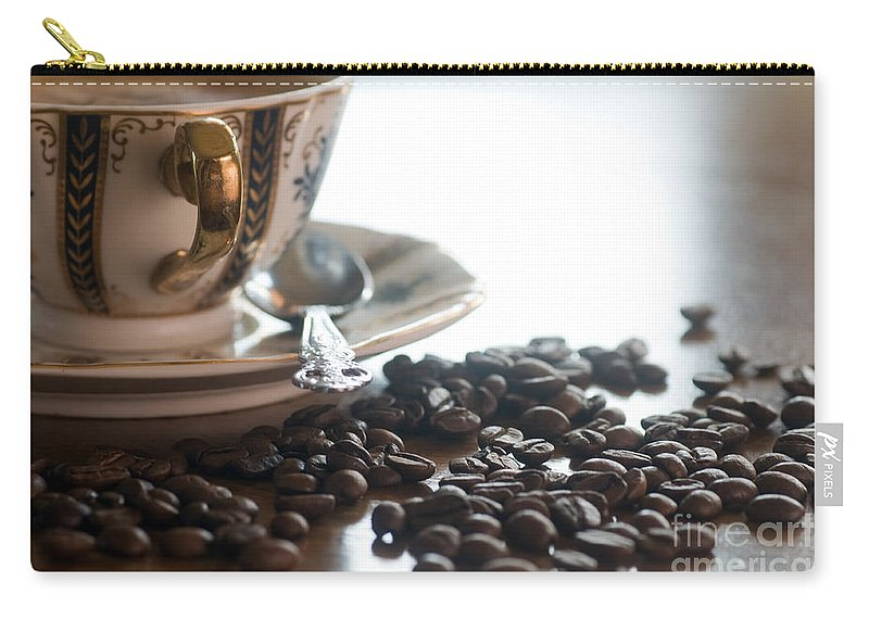 Coffee Carry-all Pouch featuring the photograph Coffee Seeds by Michal Bednarek