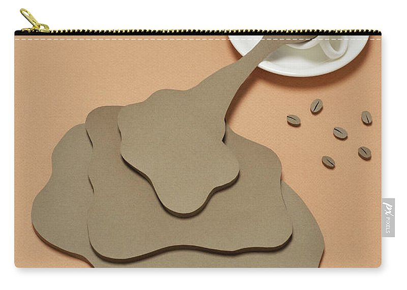 Inspiration Carry-all Pouch featuring the photograph Coffee Spilling Out From A Coffee Cup by Yagi Studio