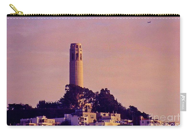 Coit Tower Carry-all Pouch featuring the photograph Coit Tower by John Malone